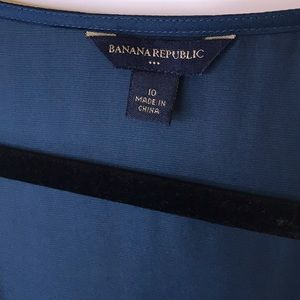Banana Republic Tops - Banana Republic Turquoise Silk Blouse, Size 10
